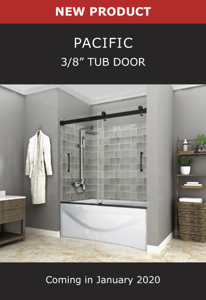 New Product Pacific 3/8 Inch Tub Door Image