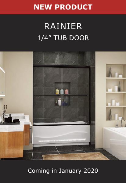 New Product Rainier 1/4 Inch Tub Door Image