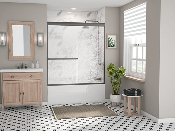 Coastal Sliding Tub Shower Door