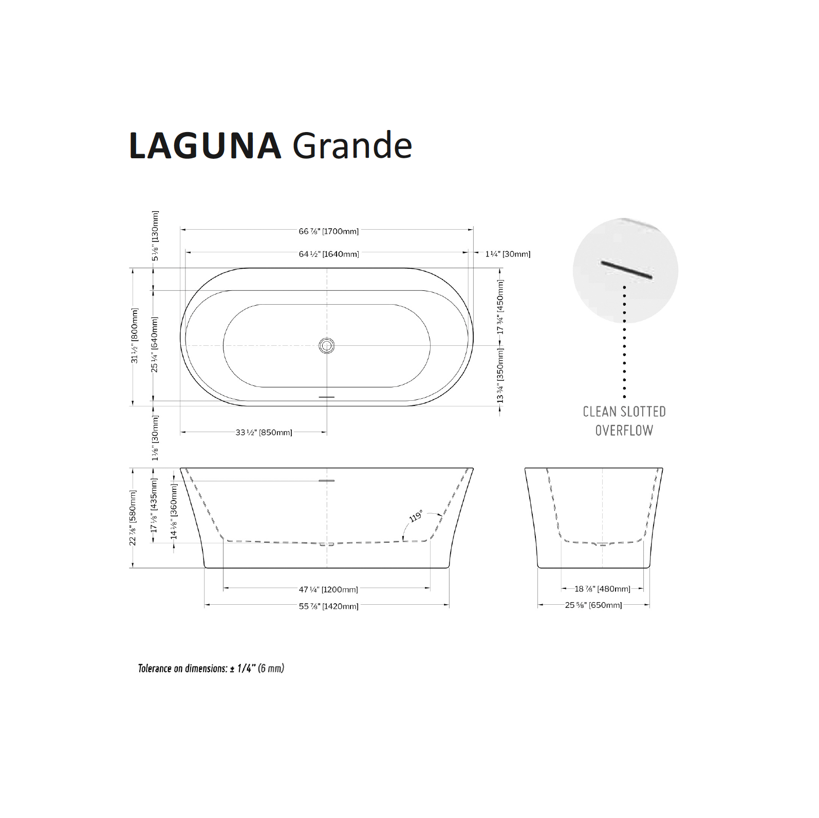 Laguna Grande Specifications