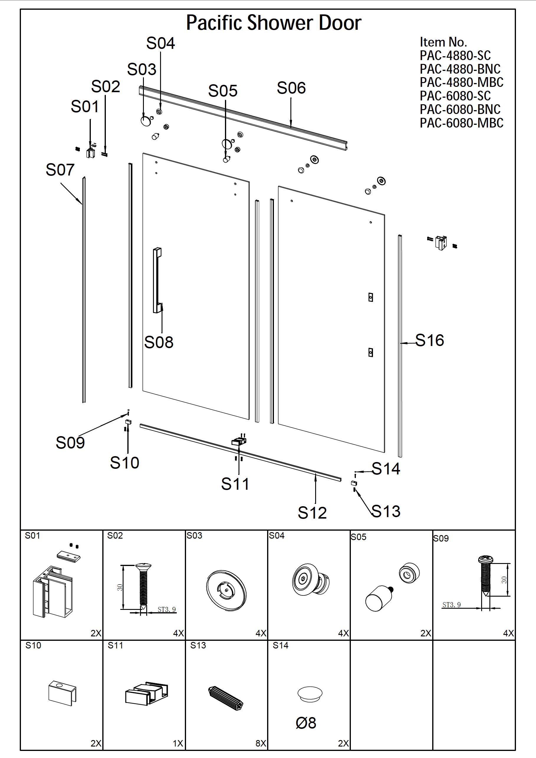 Pacific Shower Door Installation
