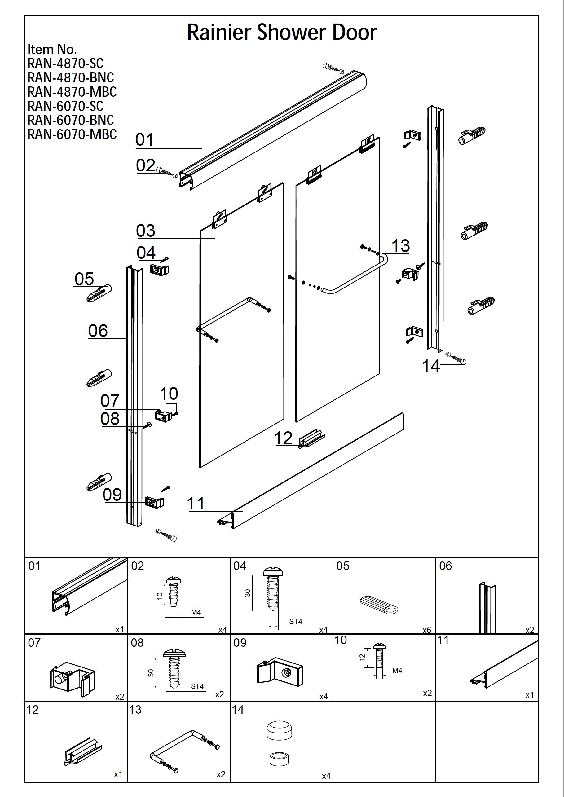Rainier Shower Door Installation
