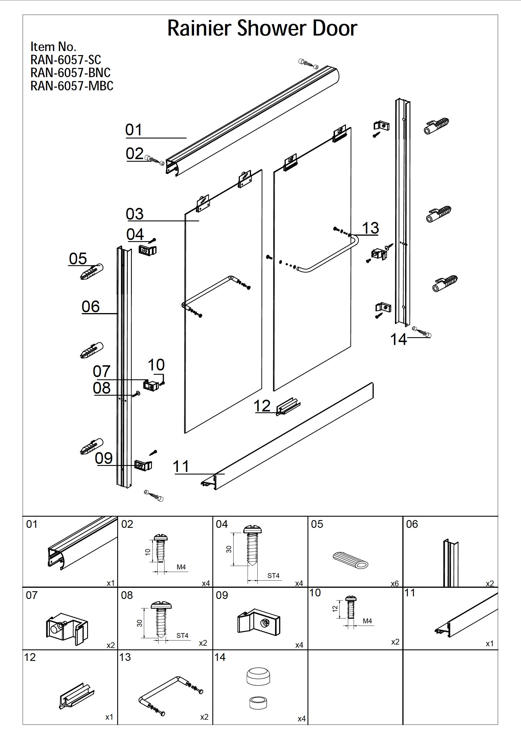 Rainier Deluxe Tub Shower Door Installation