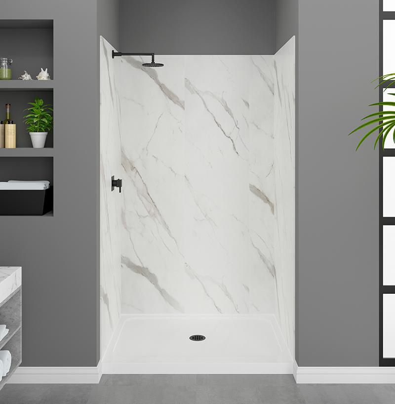 Carrara Shower Wall