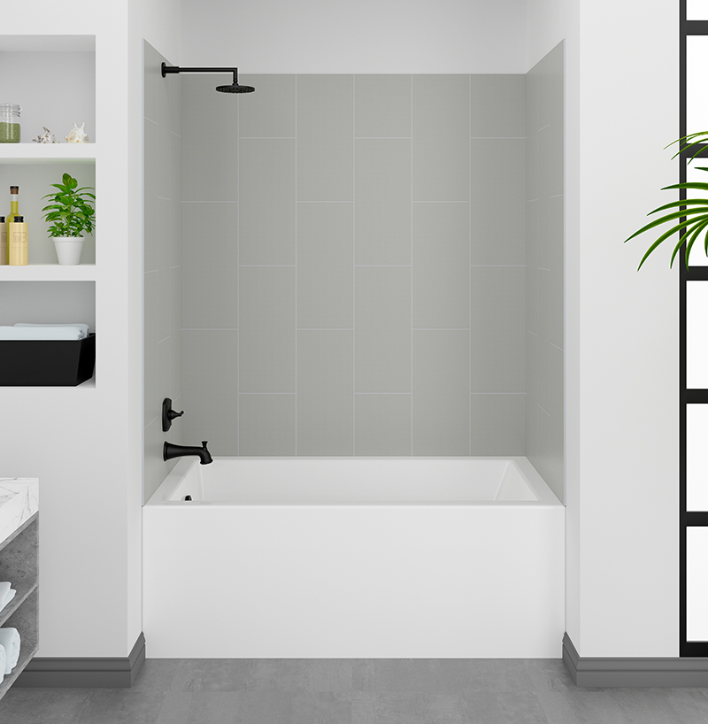 Dove Grey Shower Wall