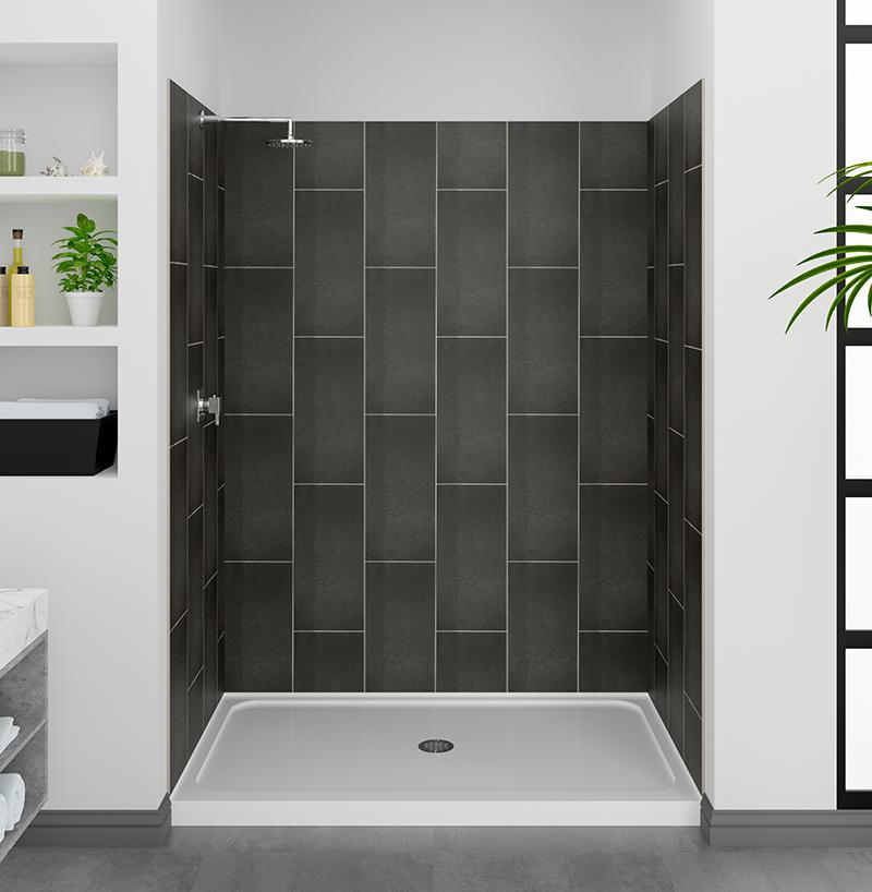 Slate Grey Shower Wall