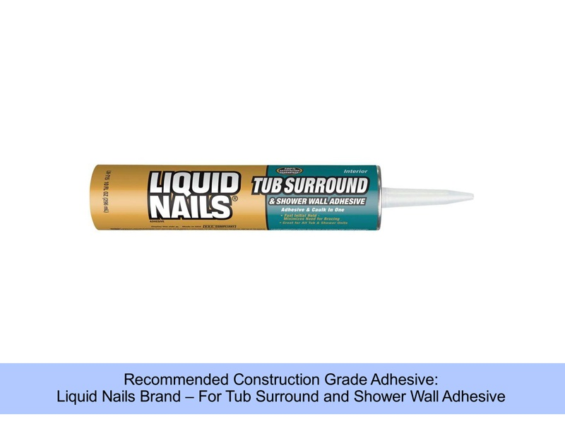Shower Wall Adhesive
